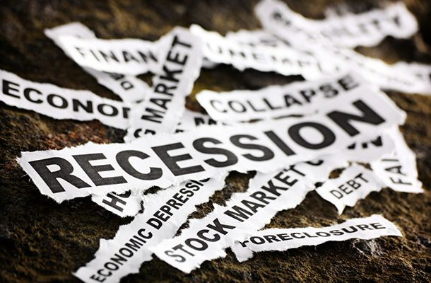 Newspaper headlines depicting the economic depression